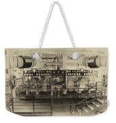 Control Board Engine Room Queen Mary Ocean Liner Long Beach Ca Heirloom Weekender Tote Bag