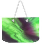 Converging Curtains Of Aurora Weekender Tote Bag