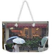 Conversation In The Rain Weekender Tote Bag