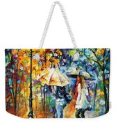 Conversation - Palette Knife Oil Painting On Canvas By Leonid Afremov Weekender Tote Bag