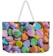Conversational Hearts Weekender Tote Bag