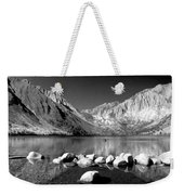 Convict Lake Pano In Black And White Weekender Tote Bag