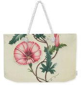 Convolvulus With Yellow Butterfly Weekender Tote Bag