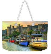 Conwy Castle And Harbour Weekender Tote Bag