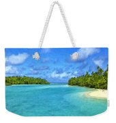 Cook Islands Lagoon Weekender Tote Bag