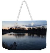 Cool Blue Ripples - Lake Shore Eventide Weekender Tote Bag