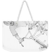 Cool Bmx Drawing Weekender Tote Bag by Mike Jory
