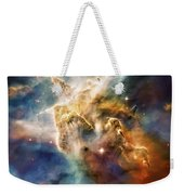 Cool Carina Nebula Pillar 4 Weekender Tote Bag by Jennifer Rondinelli Reilly - Fine Art Photography