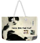 Cool Cat Greeting Card Weekender Tote Bag