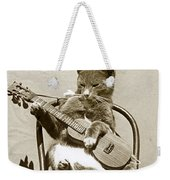 Cool Cat Playing A Guitar Circa 1900 Historical Photo By Photo  Henry King Nourse Weekender Tote Bag