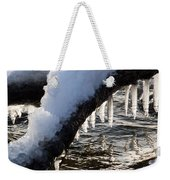 Cool Icicles Reflecting In The Waves  Weekender Tote Bag