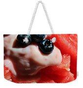 Cool Snack - Watermelon And Blueberries Weekender Tote Bag