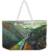Coombe Valley Gate, Exmoor, 2009 Acrylic On Canvas Weekender Tote Bag