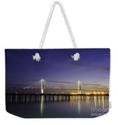 Cooper River Bridge Lights Glowing Weekender Tote Bag