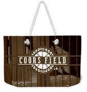 Coors Field - Colorado Rockies 15 Weekender Tote Bag by Frank Romeo