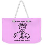 Cop Kicking Ass In Pink Weekender Tote Bag
