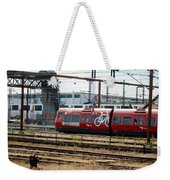 Copenhagen Commuter Train Weekender Tote Bag