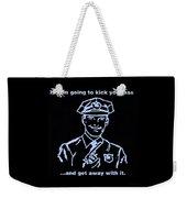 Copkickingass Cyan Weekender Tote Bag