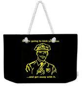 Copkickingass Yellow Weekender Tote Bag