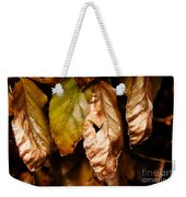 Copper Beech Leaves Weekender Tote Bag