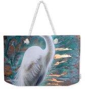 Copper Egret Weekender Tote Bag by Sandi Baker