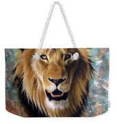 Copper Majesty - Lion Weekender Tote Bag by Sandi Baker