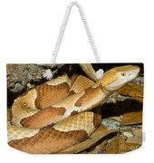 Copperhead Snake Weekender Tote Bag