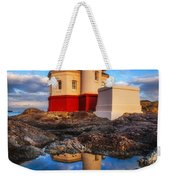 Coquille Lighthouse Weekender Tote Bag by Darren  White
