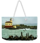 Coquille River Lighthouse And Birds Weekender Tote Bag
