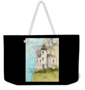 Coquille River Lighthouse Or Nautical Chart Map Art Cathy Peek Weekender Tote Bag