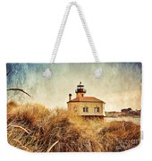 Coquille River Lighthouse - Texture Weekender Tote Bag