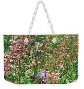 Coral Bells And Irises Weekender Tote Bag