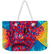 Coral Grouper Weekender Tote Bag by Daniel Jean-Baptiste