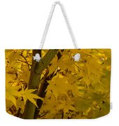 Coral Maple Fall Color Weekender Tote Bag
