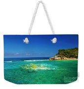 Coral Seas Haiti Weekender Tote Bag