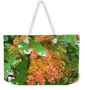 Coral Shower Tree Weekender Tote Bag