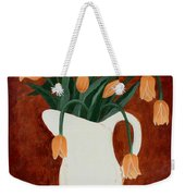 Coral Tulips In A Milk Pitcher Weekender Tote Bag