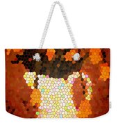 Coral Tulips In Stained Glass Weekender Tote Bag