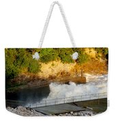Coralville Dam At Capacity Weekender Tote Bag