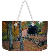 Corbin Covered Bridge Newport New Hampshire Weekender Tote Bag by Edward Fielding