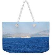 Corfu Channel Lighthouse Weekender Tote Bag