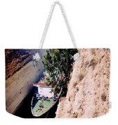 Corinth Canal Greece Weekender Tote Bag