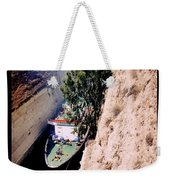 Corinth Canal Poster Weekender Tote Bag