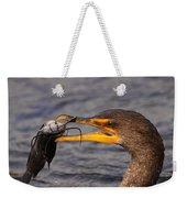 Cormorant Catching Catfish Weekender Tote Bag