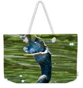 Cormorant With Catch Weekender Tote Bag