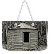 Corn Crib In Monochrome Weekender Tote Bag