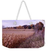 Corn Field In The Fall Weekender Tote Bag