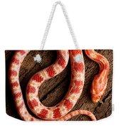 Corn Snake P. Guttatus On Tree Bark Weekender Tote Bag