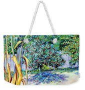 Corn Stalk And Apple Tree  Autumn Lovers Weekender Tote Bag