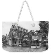 Corner Cafe Main Street Disneyland Bw Weekender Tote Bag